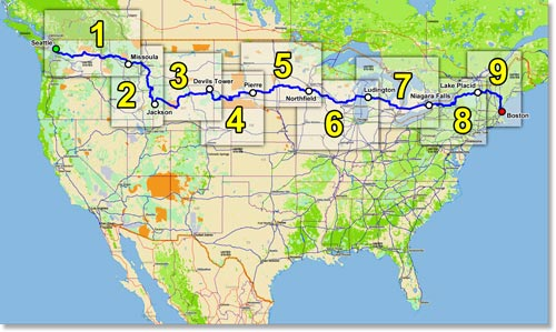 Cycle America Pedal The Peaks Bicycle Tours And Events - Us bike route 1 map